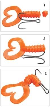 как насадить твистер