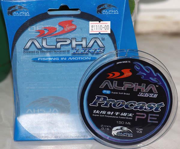 Плетеная леска Alpha Line Procast PE.