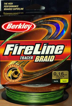 Плетеная леска Fireline Tracer Braid.