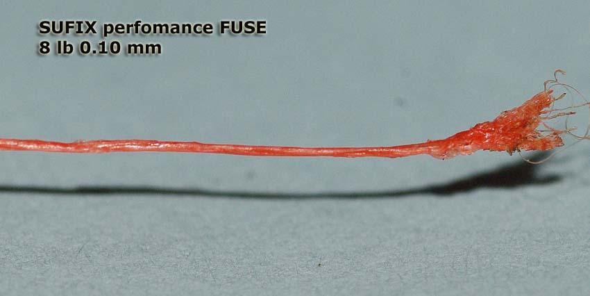 Плетеная леска Sufix Perfomance Fuse. Макросъемка.