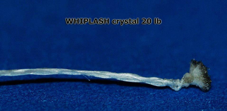 Плетеная леска Whiplash Crystal. Макросъемка.